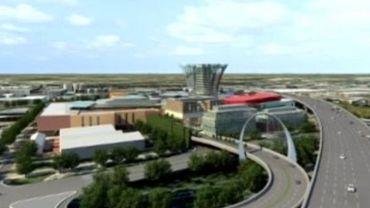 Le projet de centre commercial Uplace comprend la construction d'une tour de 100 mètres de haut.