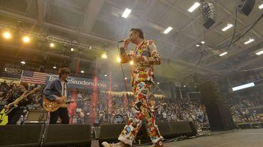 The Strokes lors de son concert de soutien pour Bernie Sanders.
