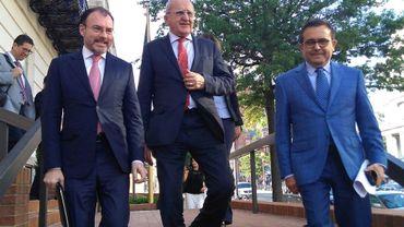 Le ministre mexicain des Affaires Étrangères Luis Videgaray, le ministre de l'Economie Ildefonso Guajardo et son futur successeur Jesus Seade ont rencontré les négociateurs américains à Washington DC le 09 août 2018