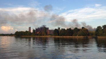 Incendie sur le site d'Arcelor Mittal à Chertal