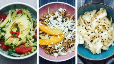 """8 recettes """"Salad Bar""""savoureuses, faciles à prépareren associant légumes de chez nous et arômes exotiques."""
