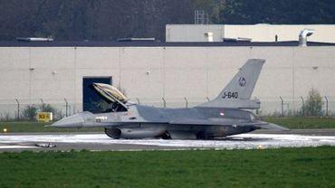 Le F-16 accidenté