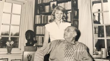 Evelyn Titeca avec son grand-oncle, Victor Boin