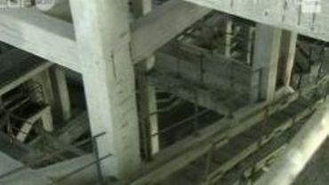 Vue intérieure du lavoir à charbon