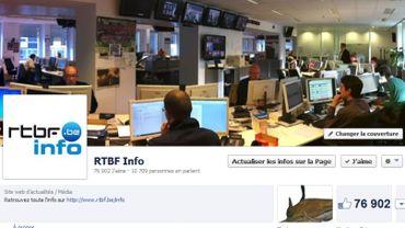La page Facebook de RTBFInfo