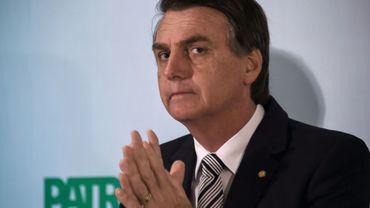 Le député brésilien d'extrême droite Jair Bolsonaro, le 10 août 2017 à Rio de Janeiro
