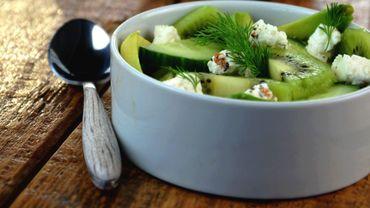 Salade toute verte au kiwi