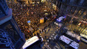 L'arrestation de Puigdemont en Allemagne a déclenché dimanche une manifestation à Barcelone.
