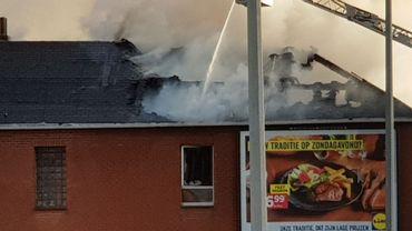 Incendie à Kortenberg, chaussée fermée