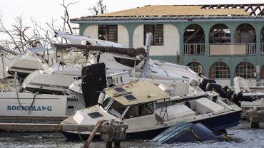 """La désolation dans les """"Keys"""" après le passage de l'ouragan Irma."""