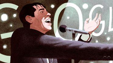 """Google rend hommage à Jacques Brel avec un nouveau """"doodle"""""""