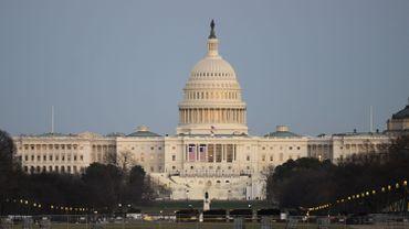 """""""National Mall"""" devant le Capitole à Washington, le 10 janvier 2021"""