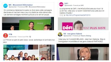 Publicités politiques sur Facebook: que sponsorisent les partis à deux semaines des élections?