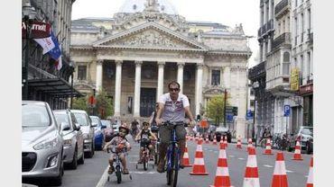 Ce dimanche, petits et grands étaient conviés à parcourir dix kilomètres à vélo dans les rues de Bruxelles
