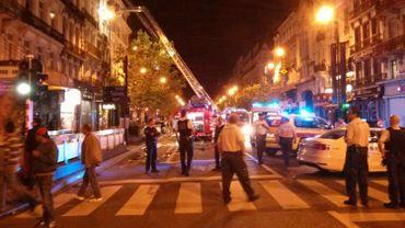 L'incendie qui s'était déclaré le 10 août 2013 dans une habitation du boulevard Anspach, à Bruxelles.