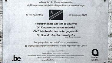 Trois fautes de néerlandais sur la plaque commémorative du 60e anniversaire de l'indépendance du Congo inaugurée à Ixelles
