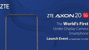 ZTE annonce la sortie prochaine du Axon 20, son premier smartphone véritablement sans bord.