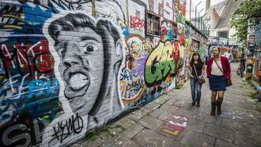 Graffitistraatje à Gand