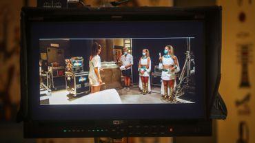 Sur le tournage du film des K3, en août 2020, au Musée Arts et Histoire de Bruxelles