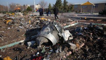 Les débris de l'avion ukrainien