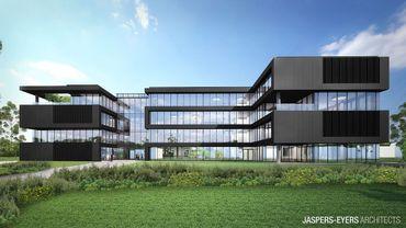 10.000m² pour ce bâtiment d'ING qui vise une certification d'excellence en matière de durabilité.