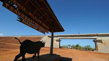 L'entrée du parc national de Tsavo au Kenya, le 16 mars 2016.