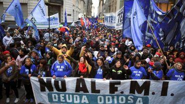 Manifestation contre le G20 des ministres des Finances et gouverneurs des banques centrales, le 20 juillet 2018 à Buenos Aires, en Argentine