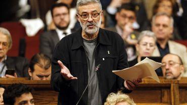 Carles Riera, député catalan du parti Candidature d'unité populaire.