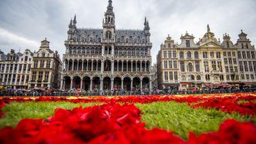 Le Tapis de fleurs sur la Grand-Place de Bruxelles, en août 2014