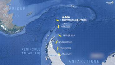 Un iceberg géant à la dérive menace les manchots et les phoques d'une île de l'Atlantique Sud