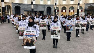 Un rassemblement organisé par Bite bak, organisation qui défend les animaux.