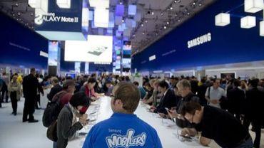 Le stand Samsung à la foire commerciale IFA à Berlin le 31 août 2012