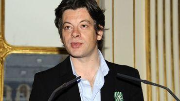 Benjamin Biolay, officier des Arts et Lettres, en octobre 2012