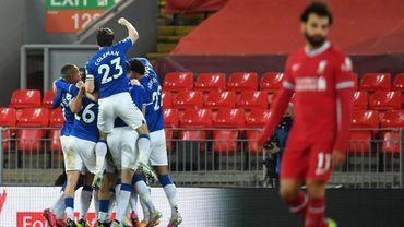 Liverpool s'est incliné contre Everton 0-2.