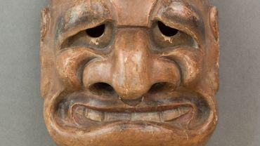 Ce masque de théâtre japonais est exposé au Musée du quai Branly - Jacques Chirac à Paris