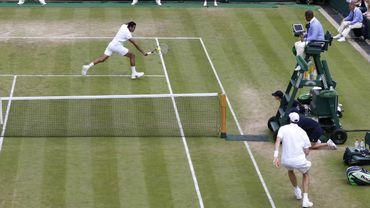 Jo-Wilfried Tsonga s'impose face à John Isner
