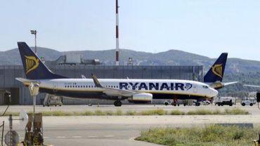 Un avion de Ryanair sur le tarmac de l'aéroport de Marseille-Marignane, le 28 septembre 2010