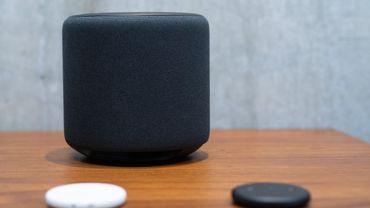 L'enceinte Echo d'Amazon permet de se connecter à Alexa, un service vocal du Cloud.