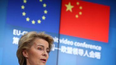 Ursula van der Leyen lors d'un sommet virtuel Europe-Chine, le 22 juin à Bruxelles