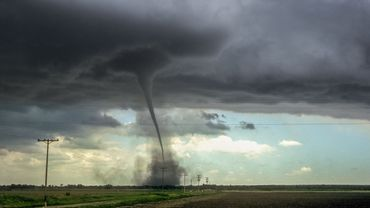 Strong tornado over the plains of eastern Colorado