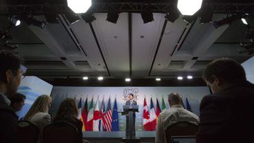 Le Premier ministre canadien, Justin Trudeau pendant le G7.