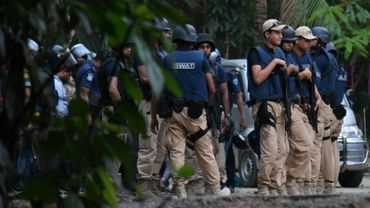 Opération policière anti-jihadistes, le 15 mars 2017 à Chittagong au Bangladesh