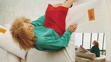 Lit-banquette issu de la collection MARKERAD par IKEA et Virgil Abloh.