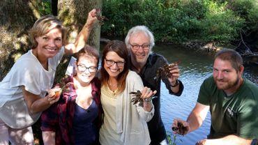 Acrobatique la pêche à l'écrevisse dans La Hantes !
