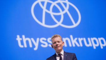 CEO of German industrial group ThyssenKrupp Guido Kerkhoff is pictured during the annual general meeting of the group on February 01, 2019 in Bochum, western Germany
