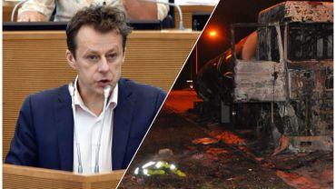 """Di Antonio: """"Nous serons fermes et nous porterons plainte contre les responsables des dégâts causés aux infrastructures"""""""