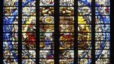 Le somptueux vitrail de Léon d'Oultres de la cathédrale (1530)