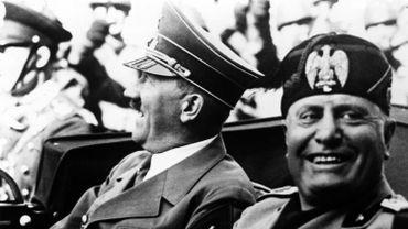 Benito Mussolini en compagnie d'Adolf Hitler