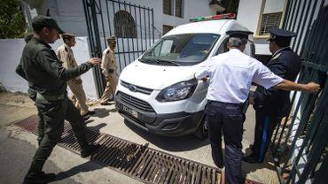 Véhicule transportant les suspect, au tribunal de Salé, en mai dernier