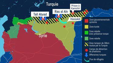 Opération turque en Syrie : jusqu'où l'armée veut-elle aller ? (carte)